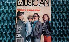Van Halen Van Hagar Musician Magazine 1986 Pete Townsend Del Fuegos Robert Cray