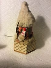 Old Christmas Japan Santa In Castle Cotton Roof Candy Container