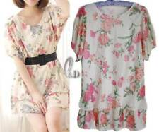 Short Sleeve Hand-wash Only Floral Tops for Women
