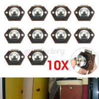 10x Mini Push Button Catch Lock Cabinet Door Knob Caravan Camper Motorhome