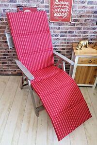 Kettler Auflage Relax Relaxliege 8675 170 x 48 cm Rot Streifen Dessin 675 Sitz