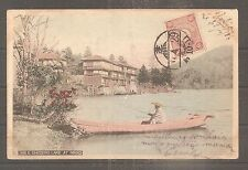 JAPAN POSTCARD TOKYO TO FRANCE 1906 USED TAXE