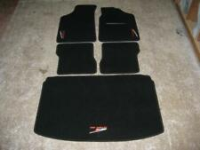 Car Mats in Black to fit Peugeot 106 + 106 Rallye (Old Style) Logos and Boot Mat
