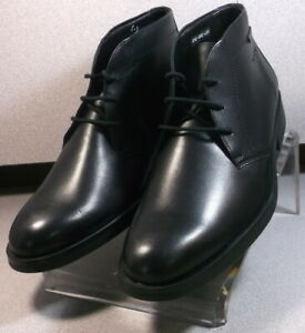 SEVERINO BLACK MMSPBT90 Men Shoes Size 8 EUR 7.5 Leather Lace Up Boots Mephisto