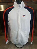 Vintage Nike Air Track Warmup Jacket Coat Mens Size Large Syracuse Colors Swoosh