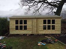 20x10 Wooden Garden Shed Summerhouse 19mm T/G Ultimate Apex Style 4' Double Door