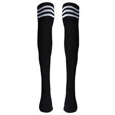 Women High Striped Over Knee Long Socks Stockings Stripe Tube Soccer Football