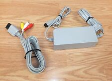 Genuine Nintendo AC Adapter Power Supply & A/V Cable For Wii Console **READ**