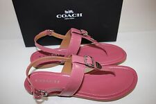 NIB COACH Size 9 Women's Rouge Patent Leather CASSIDY Ankle T-Strap Sandal