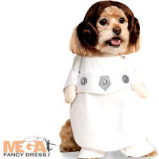 Princess Leia Dog Fancy Dress Star Wars Rebel Scifi Movie Fun Pet Puppy Costume