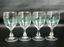 Vintage Durobor Irish Coffee Glasses Gold Rim Glass Stem Lot of 4