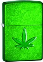 Zippo  Stamped Weed Leaf Meadow Lighter 29662,New,Box,