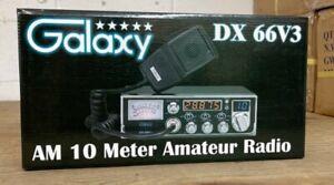 Galaxy DX66V3 45 Watt Mid-Size AM 10 Meter Radio orange digits  JUST OUT ! NEW