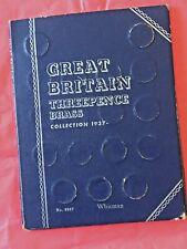 More details for whitman folder [#9687] 32 brass threepences, full set 1937 - 1967