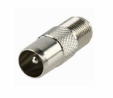 5X Coax Male Plug To F Female Socket Adaptor  Convertor Pack 5