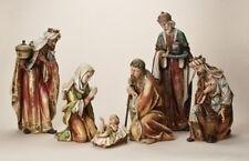 "Roman Joseph Studio 6 Pc Set Nativity Figurine Ornaments 5"" To 20"" Resin Stone"