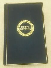 THE COMPLETE POETIC AND DRAMATIC WORKS OF ROBERT BROWNING 1895 Cambridge Edition