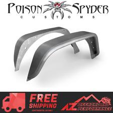 Poison Spyder Rear Crusher Flare Standard Width Steel For 07-18 Jeep Wrangler JK