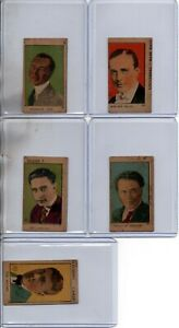 (5) CARDS 1920's ACTOR CARDS