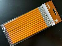 10 Bleistifte HB ( mittel ) Stifte Bleier + Radierer Radiergummi o. Beschriftung
