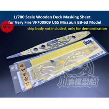 1/700 Wooden Deck Masking Sheet for Very Fire VF700909 USS Missouri BB-63 Model