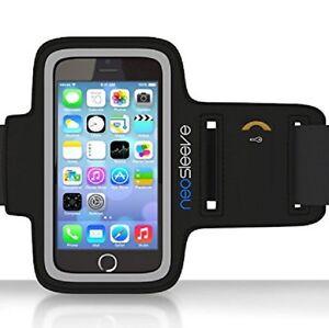 NEW!! NEOSLEEVE BLACK NEOPRENE SPORTS ARMBAND FOR IPHONE 6 W/SCREEN PROTECTOR