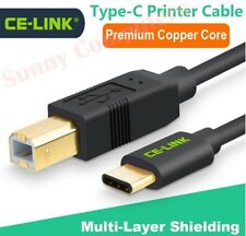 USB 3.1 Type-C USB-C to USB 2.0 Type-B Male Cable Printer Scanner Adapter Cord