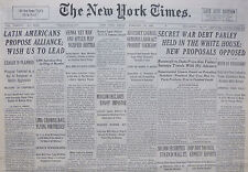 2-1938 February 18 LATIN AMERICANS PROPOSE ALLIANCE WISH US TO LEAD, LEAGUE PLAN