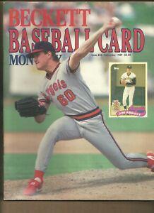 Beckett Baseball Card Monthly Magazine Jim Abbott September 1989