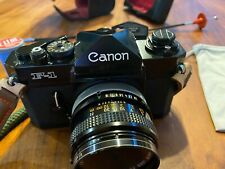 Canon F-1 Mint - CLA'd  and 50mm f/1.8 & More