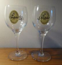 Pair of La Goudale French (bière de garde) Beer Glasses 25cl