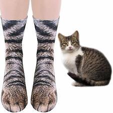 Cat Paw Socks Novelty 3D Printed Animal Paw Crazy Socks Hosiery Tiger Paw Sock
