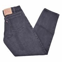 VTG Levis 550 Relaxed Fit Tapared Denim Jeans Mens Size 31x32 Faded Black Wash