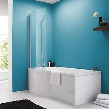 Curved Left/Right Hand Shower Bath Screen 1475mm for P Shaped bath