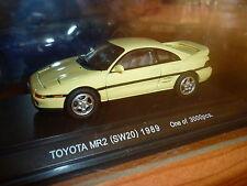 Toyota mr2 sw20 1989 ebbro 1/43 toy mr 2 sw 20 jaune RARE