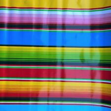 New Mexican Oilcloth Fabric Tablecloth PVC Cotton Waterproof 120 cm Sarape Look