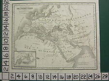 c1830 GEORGIAN MAP ~ ANCIENT WORLD DESCENDANTS OF NOAH JAPHET EUROPA SHEM HAM