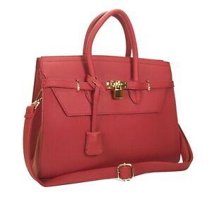 New Genuine Premium Luxury Quality Leather Handbag RRP£270 Inc Shoulder Strap