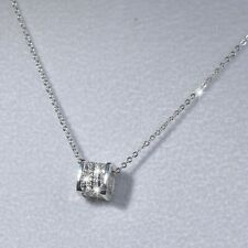 18K WHITE GOLD MADE WITH SWAROVSKI CRYSTAL RING SQUARE LOVE PENDANT NECKLACE