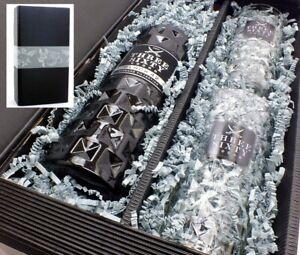 Three Sixty Vodka Black 42% 0,7l - Set mit 2 Gläser 0,3l in Geschenkkarton -Glas