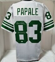 Vince Papale Signed White Custom Player Jersey Invincible Insc Beckett BAS COA