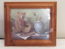 FRAMED PRINT BY RAYMOND CAMPBELL DEPICTING A TEDDY.
