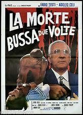 LA MORTE BUSSA DUE VOLTE 2° TIPO MANIFESTO CINEMA ADOLFO CELI EKBERG GIALLO 1971