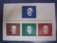 TIMBRES COLLECT-1er ANNIVERSAIR COMMEMORATION Dr.K.ADENAUER-19.04.1968-NEUFS
