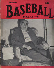 1947 (Mar.) Baseball Magazine, Edward Grant Barrow, Builder of New York Yankees