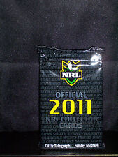 NRL OFFICIAL 2011 COLLECTOR TRADING CARDS - PACK 12 - NEW AND SEALED