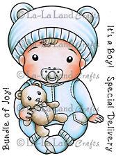 BABY LUKA-La-La Land Crafts Cling Mount Rubber Stamp-Stamping Craft-Baby Card