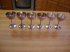 6 SILVERPLATE VIKING PLATE  WINE OR CHAMPAGNE GOBLETS MADE IN CANADA