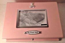 Carlton Cards My first Year Memory Baby Girl Infant Keepsake Pink Box Photo Slot