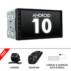 """CAM+CarPlay+DVR+7"""" Car GPS Navigation Android 10 Double Din Stereo Touch Screen"""